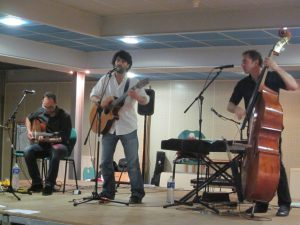 Le trio de l'Épopée Rustre au lycée de Mirepoix