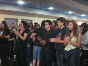 Les lycéen-ne-s de Mirepoix lors du concert du 4 juin